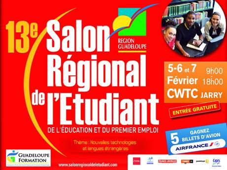 R gion guadeloupe 13e salon r gional de l 39 tudiant for Salon de l emploi bruxelles