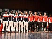 Coupe Davis_Arrivée de l'équipe de France