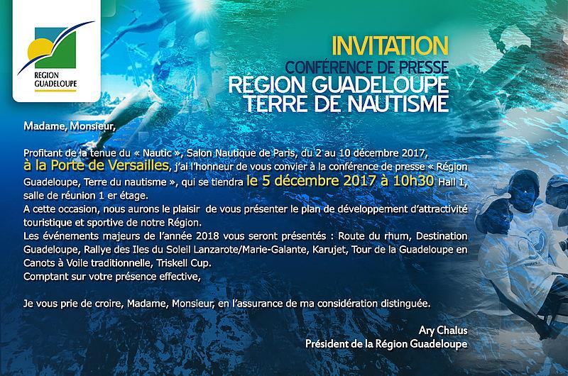 R gion guadeloupe conf rence de presse au salon nautique - Salon nautique international de paris ...