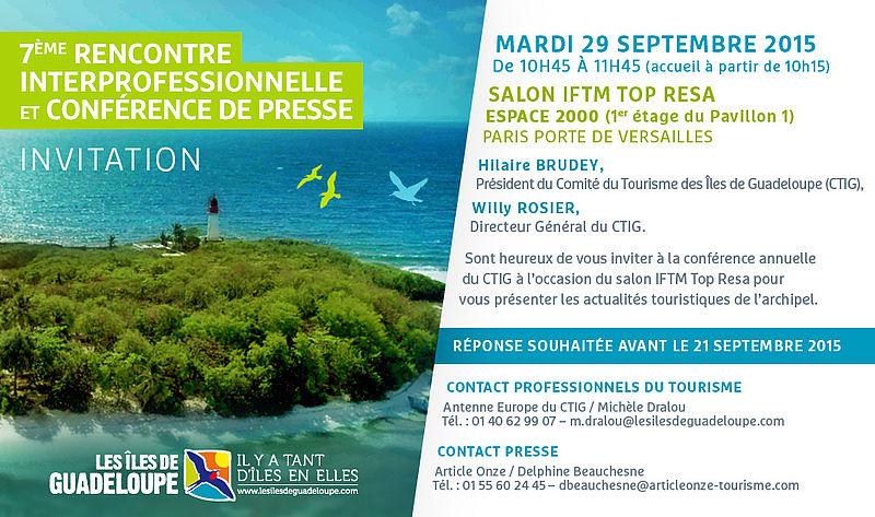 R gion guadeloupe iftm top resa le salon professionnel du - Salon tourisme belgique ...